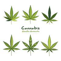 Jeu de logo Cannabis. vecteur