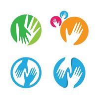 images de logo de main vecteur