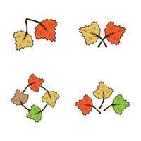 illustration d'images d'automne vecteur