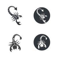 illustration des images du logo scorpion vecteur