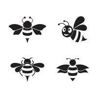 images de logo d'abeille vecteur