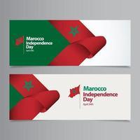 heureux, maroc, fête, indépendance, jour, célébration, vecteur, modèle, conception, illustration vecteur