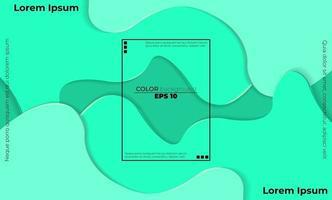 composition de formes de gradient de flux fluide à la mode vecteur
