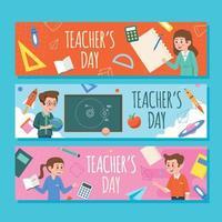 collection de bannières de la journée des enseignants vecteur