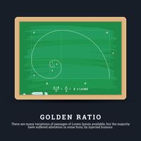 Illustration du ratio d'or vecteur