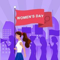 concept de la journée internationale des femmes vecteur