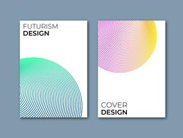 Conception de couverture de futurisme vecteur