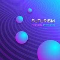 Modèle de vecteur de couverture Tech futuriste abstraite