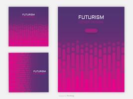 Fonds de vecteur abstrait couverture futuriste géométrique
