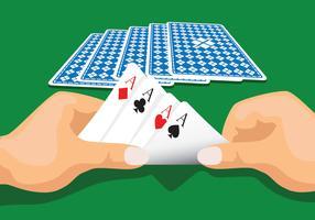 Illustration vectorielle de cartes à jouer vecteur
