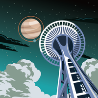 Illustration de l'ascenseur spatial