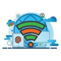 illustration de la connexion sans fil. icône de vecteur plat