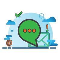 illustration du message. icône de vecteur plat