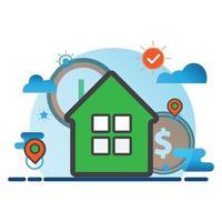 illustration de la maison. icône de vecteur plat