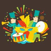 Illustration vectorielle de défilé Festival