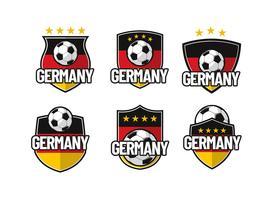 Vecteur de patch Footbal Allemagne