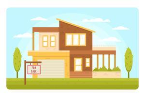 Vecteur de liste immobilière