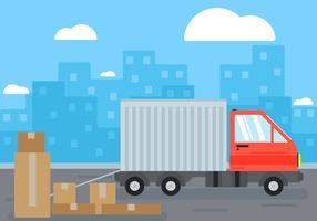 Illustration de fond de camion en mouvement