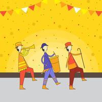 Illustration vectorielle festival parade