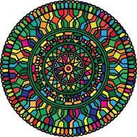 ornement de vecteur de conception de mandala coloré. mandala multicolore.