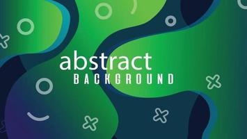 nouveau fond dégradé vert abstrait et géométrie moderne vecteur