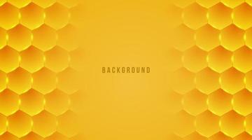 illustration vectorielle de fond abstrait abeille miel hexagone vecteur