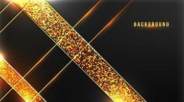 abstrait premium avec de l'or sur illustration vectorielle fond sombre vecteur