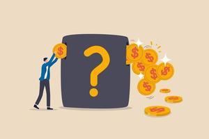 Investissement générant des bénéfices, économie d'argent, marché boursier de croissance avec un rendement de gain en capital élevé ou un concept de dividende vecteur