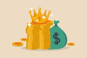 l & # 39; argent est le concept roi vecteur