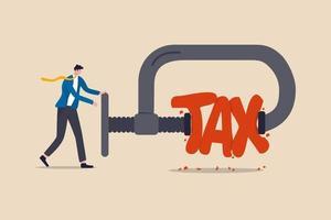 réduction des paiements d'impôts, politique gouvernementale, optimisation de l'impôt sur le revenu et concept de gestion de patrimoine vecteur