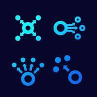 icônes de dispersion pour le web, vecteur