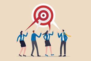 partenaires commerciaux discutant de l'objectif de travail vecteur