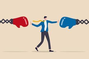 gestion des conflits, compétences en leadership pour compromettre et résoudre un problème d'argumentation, négociation ou arrêter de combattre vecteur