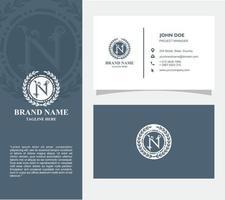 carte de visite avec logo n vecteur, eps 10 vecteur