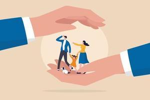 sécurité de la famille, assurance-vie ou concept de protection vecteur