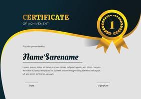 modèle de conception de certificat pour la réalisation vecteur