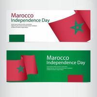 illustration de conception de modèle de vecteur de fête de l'indépendance maroc