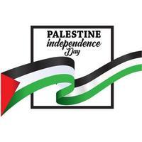 palestine joyeuse fête de l'indépendance vecteur