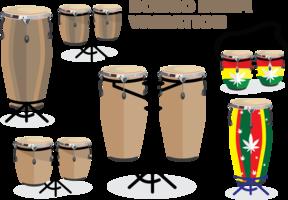 pack de variation de tambour bongo vecteur