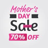 Bannière de vente de fête des mères vecteur