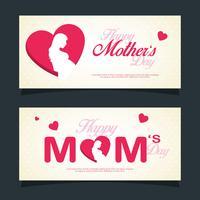 Bannière de fête des mères heureux