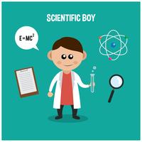 garçon juste de la science vecteur