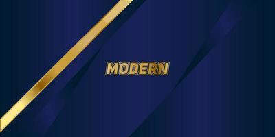abstrait motif polygonal luxe bleu foncé avec de l'or vecteur