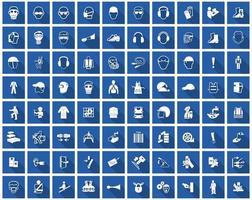 symbole d'équipement de protection individuelle requis, icône de sécurité vecteur