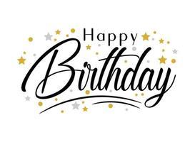 lettrage de joyeux anniversaire vecteur