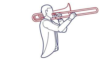 trombone musicien orchestre instrument graphique vecteur