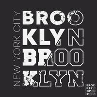 Brooklyn New York City typographie pour timbre d'impression de t-shirt, applique de tee-shirt, slogan de mode, insigne, vêtements d'étiquettes, jeans ou autres produits d'impression. illustration vectorielle vecteur