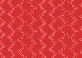 dessiné à la main, modèle sans couture de couleur zigzag rouge