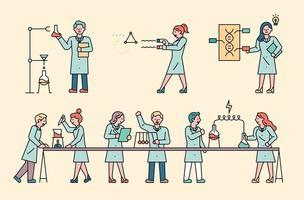 scientifiques dans le laboratoire vecteur