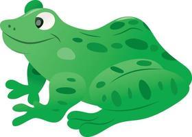 grenouille verte tachetée de dessin animé vecteur